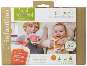 Amazon.com : Infantino Squeeze Pouches, 4-Fl Oz, 50 count : Baby Food Storage Containers : Baby