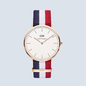3.6折 $97(原价$265)新年礼物:Daniel Wellington 经典剑桥40mm 玫瑰金手表
