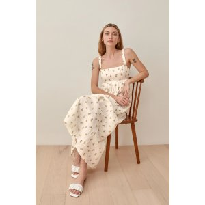 ReformationTana Floral Linen Maxi Dress