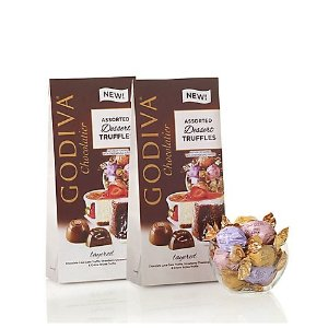 GodivaWrapped Assorted Dessert Chocolate Truffles, Large Bags, Set of 2, 19 pc. each | GODIVA