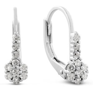 Diamond Drop Earrings @ SuperJeweler