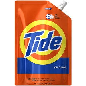$33.12(原价$40.59)Tide 汰渍 家庭装高效清洁洗衣液 31次量*3包
