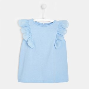 JacadiGirl t-shirt with ruffle sleeves