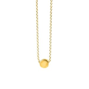 the circle necklace, gold dipped