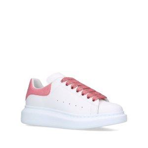 Alexander McQueen美国定价$540闪片小白鞋
