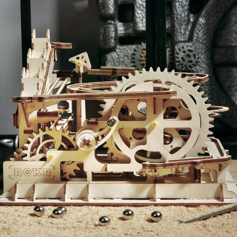 ROKR 3D Wooden Puzzle Adult Craft Model Building Set Mechanical Marble Run Games Home Decoration