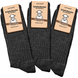3双仅€18.85Normani 羊毛袜 100%羊毛质地 冬天温暖全靠它