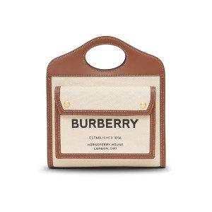 Burberry拼色Pocket