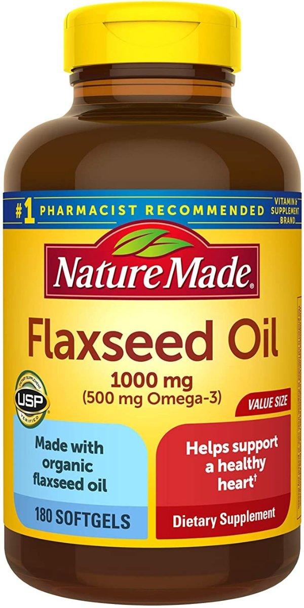 亚麻籽油 1000mg 180粒