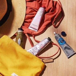送正装乳木果身体乳(价值$34)L'Occitane 欧舒丹经典身体护理 收樱花润肤露、星光瓶精华