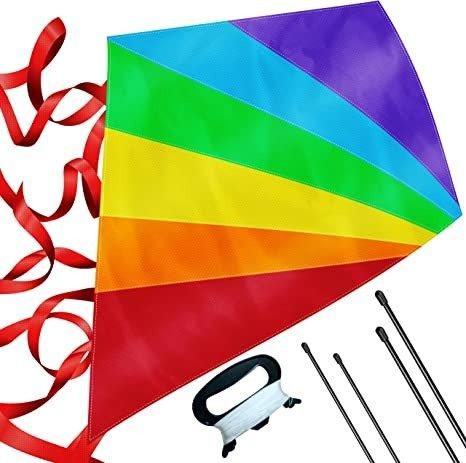 大号钻石型彩虹风筝