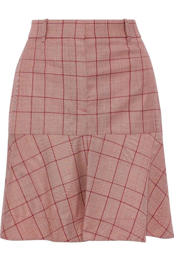 格纹羊毛半裙