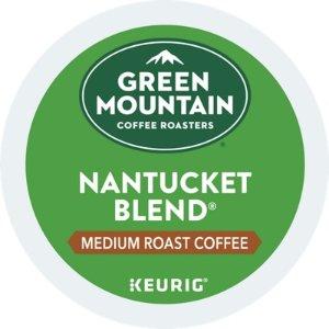 Green Mountain Coffee中度烘焙Nantucket咖啡胶囊 24颗