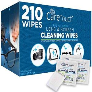 $16.99 独立包装超方便Care Touch 专业镜片清洁除菌湿巾 210片