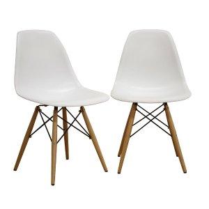 BAXTON STUDIO Azzo 白色餐椅,2张