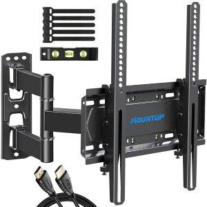 附赠水平仪+HDMI线闪购:MOUNTUP 电视挂架 最大支持55寸电视 支持VESA 400x400