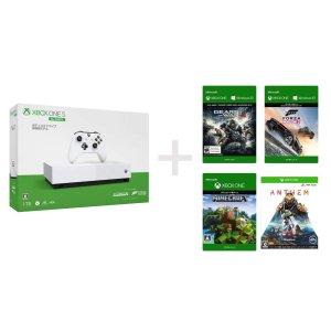 直邮美国到手价$181.4Xbox One S 1TB 无光驱版 游戏主机 + 4款必入游戏