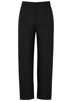 Totême Novara black twill trousers - Harvey Nichols