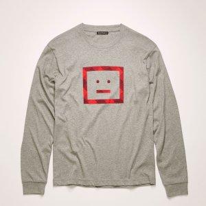 4折起 £60就收囧脸Tee!折扣升级:Acne Studios官网 上衣大促 短袖、衬衫、卫衣、针织衫白菜价