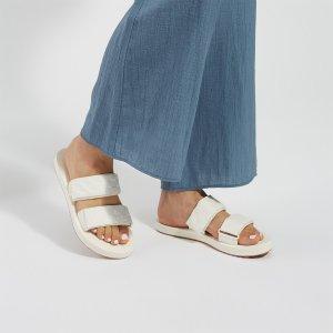 Vans女款白色平底凉鞋