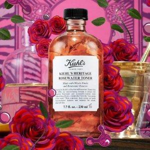 已发售 $20起美妆速递:Kiehl's 170周年限定复刻 玻璃金盏花水 陶瓷高保湿霜