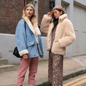 低至7折Topshop 精选女士保暖时尚外套热卖