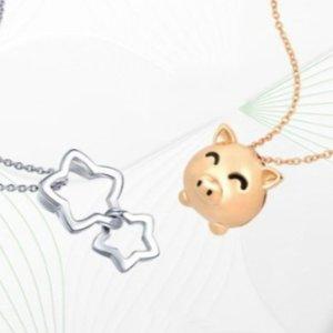 定价9折 收本命年小老鼠周生生官网 圣诞特卖 精选黄金首饰、串珠促销