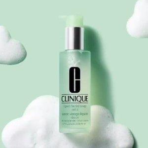 7折+满额送8件套Clinique 液体洁面皂特卖 弱酸性配方 温和净彻多余油脂污垢