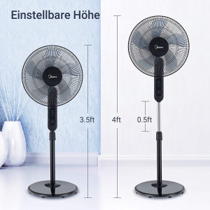 折后€49.95 超静音工作Midea 美的电风扇 国货大品牌 3种风速 4种模式 5米可遥控