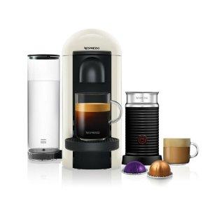 NespressoVertuo Plus White Round Top and Aeroccino3 咖啡机