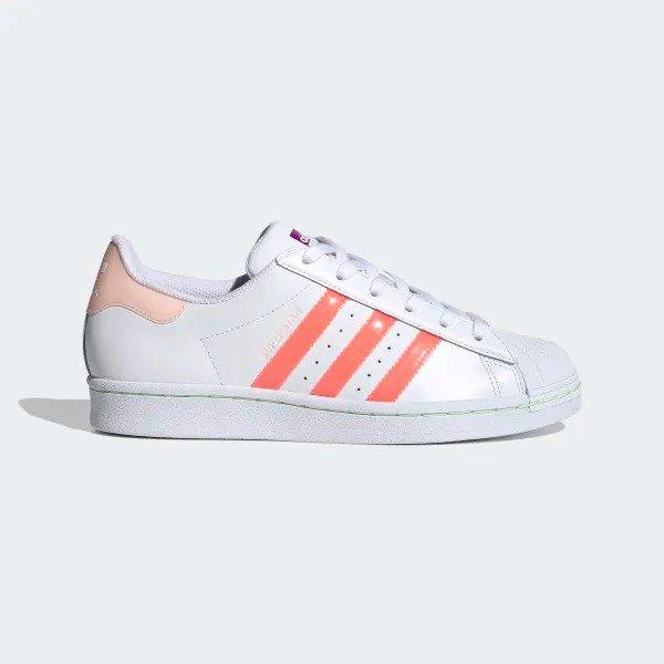 Superstar 果胶侧条小白鞋