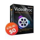 免费 (原价值$78.9)+赢价值$400相机VideoProc视频编辑软件完全免费还送礼,Vlogger必备软件