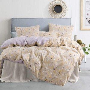 jieshiling Floral Duvet Cover Queen Beddinng Set