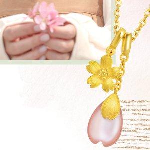 低至5折最后一天:Chow Sang Sang 精选首饰限时免邮 收封面樱花项链