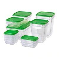 Ikea PRUTA 食物储存盒17件