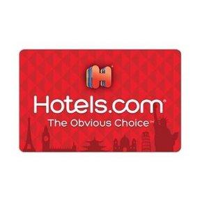 仅需$84.99 变相8.5折BJs 面值$100 Hotels.com实体礼卡超值促销