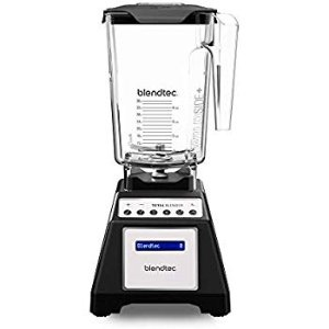 Amazon.com: Blendtec Total Classic Original Blender with FourSide Jar (75oz volume/32 oz Wet/Dry Fillable), Professional-Grade Power, 6 Pre-programmed Cycles, 10-speeds, Black: Electric Countertop Blenders: Kitchen & Dining