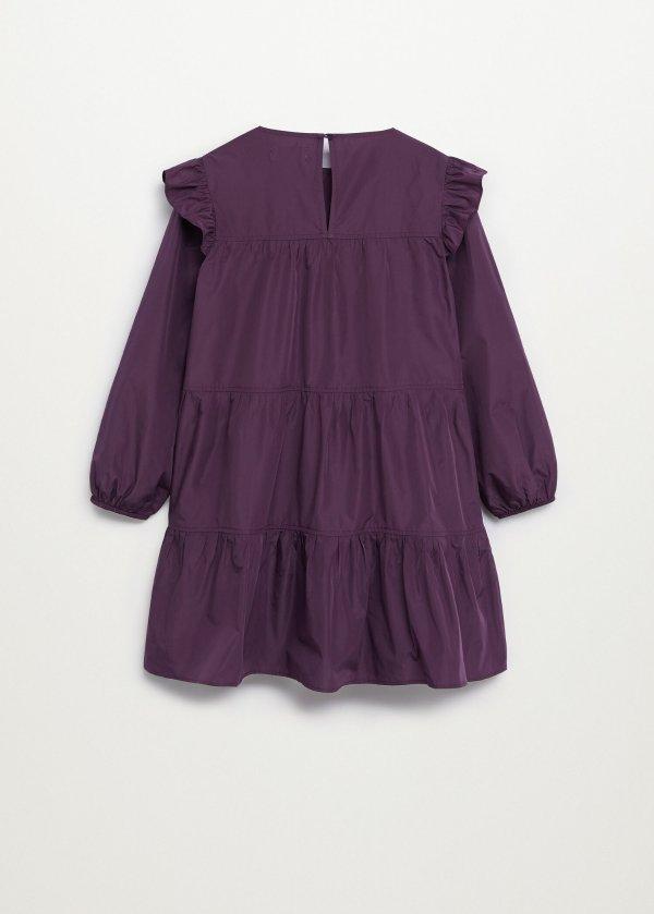 花边长袖连衣裙
