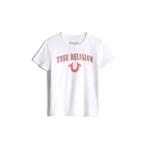 True ReligionGIRLS BREAST CANCER AWARENESS HORSESHOE TEE