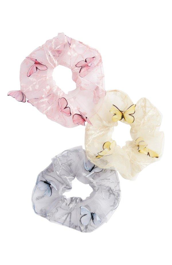 立体蝴蝶绑发带 3件套