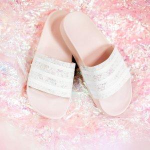 Adilette 粉色水晶拖鞋