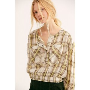 Free PeopleIt's The Good Life Plaid Top