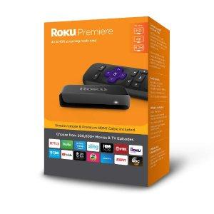 $29.99 (原价$39.99)Roku Premiere 4K HDR 流媒体播放器