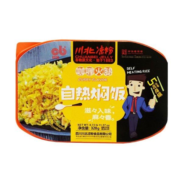 川北凉粉 自热焖饭(素咖喱味) 328g