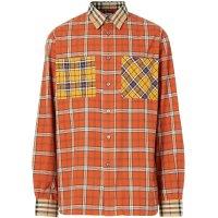 Burberry 拼接色男士衬衫