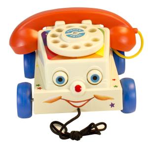 $4.99 原价$19.99 一岁宝宝就能玩Fisher Price 费雪发声玩具电话 眼睛会动 活灵活现