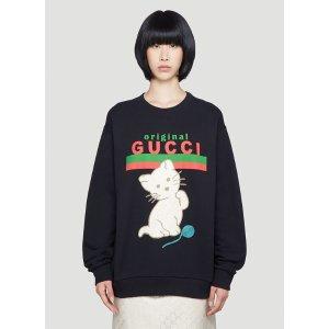 Gucci猫咪logo卫衣