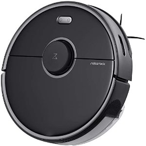 RoborockS5 MAX Robot Vacuum and Mop, Robotic Vacuum Cleaner with E-Tank, Lidar Navigation, Selective Room Cleaning, Super Powerful Suction and No-mop Zones