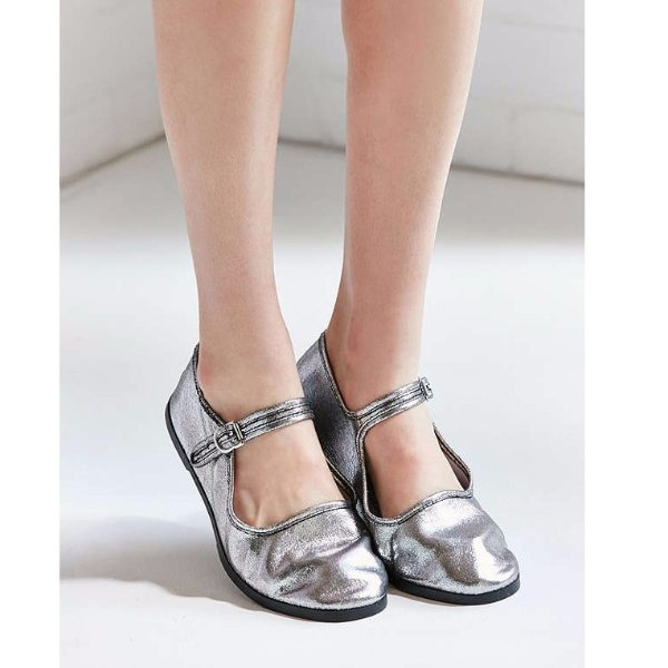 Metallic Mary Jane Flat Urban Outfitters Dealmoon