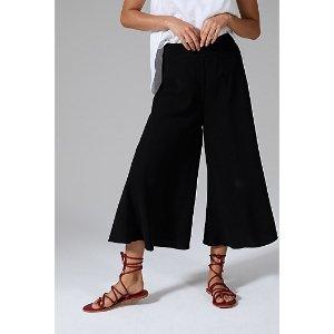 黑色阔腿裤
